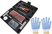 DOITOOL 1 conjunto universal de kit de reparo de pneu resistente para kit de reparo de perfuração de pneu plan