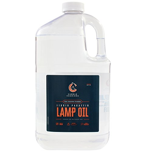 - Candle Charisma Paraffin Lamp Oil - 1 Gallon - Clear and Clean Burning - Unscented, Pure, Smokeless, Made in USA