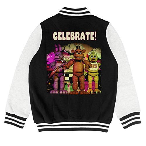Five-Cool-Nights-at-Freddy-Celebrate-Poster- Boys Girls Baseball Jacket Cartoon -