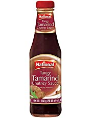 National Foods Tangy Tamarind Chutney 29.98 oz (850g) | Traditional & Spicy | Condiment for Dipping & Topping | Premium Glass Bottle