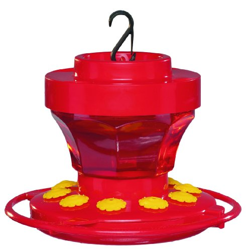 First Nature 3091 16-Ounce Hummingbird Flower - Hummingbird Plastic Feeder
