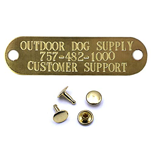 (Custom Stamped Brass Dog Collar Name Plate ID Tag)