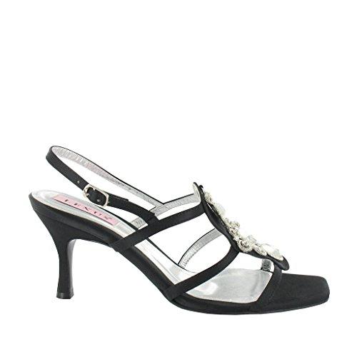 LEXUS - Sandalias de vestir para mujer negro - Black Textile