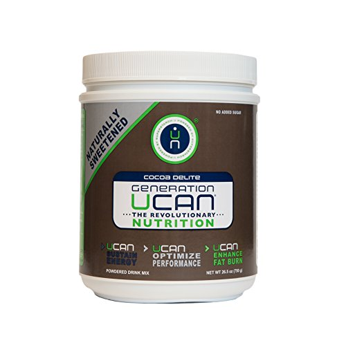 Generation UCAN SuperStarch ® Energy Drink Mix Tub, Cocoa Delite, No Added Sugar, Gluten-Free, Naturally Sweetened, Vegan, 26.5 Ounces, 30 Servings