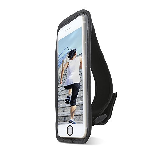 Gear Beast Sports Hand Held Running Case Pouch for Apple iPhone 7, iPhone 8. Cell Phone Holder for Running Jogging Workout Fitness Exercise. Waterproof with Card Pocket