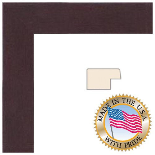 12x24 Dark Cherry Stain on Hard Maple Picture Frame - 1.25'' wide with .093 FF3 Plexi-Glass and Foam Backing