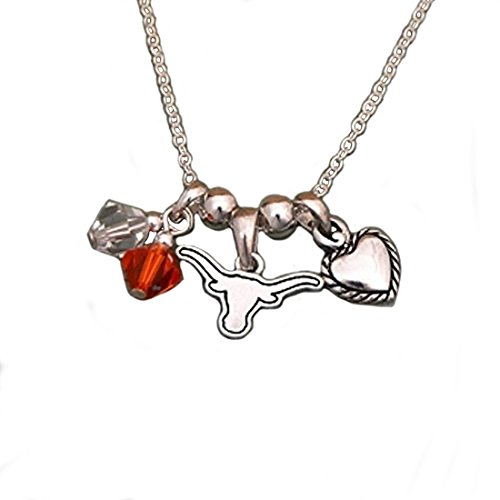 Texas Longhorn Bevo Costume (Silver Tone Necklace Featuring Texas Longhorn Charm)