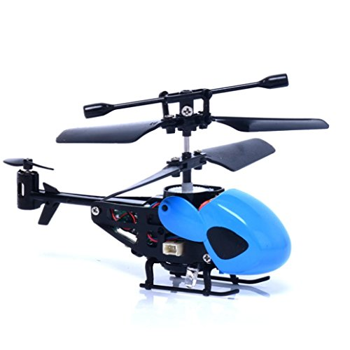 Ikevan Remote control Mini Quadcopter Mini Rc Helicopter Remote (Blue)