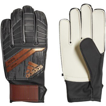 adidas Predator Junior Goalie Glove, Black, Size 5