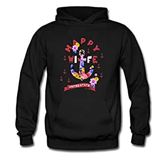 Happy Life Happy Wife United State Design Men Women Valentine's Hoodie (2XL, Happy Wife)