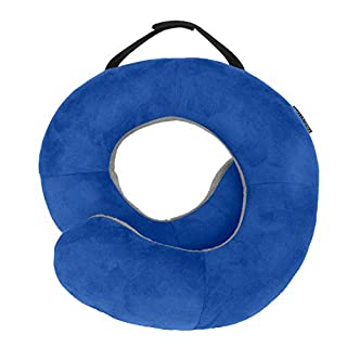 Travelon Deluxe Wrap N' Rest Pillow, Cobalt/Gray, One Size