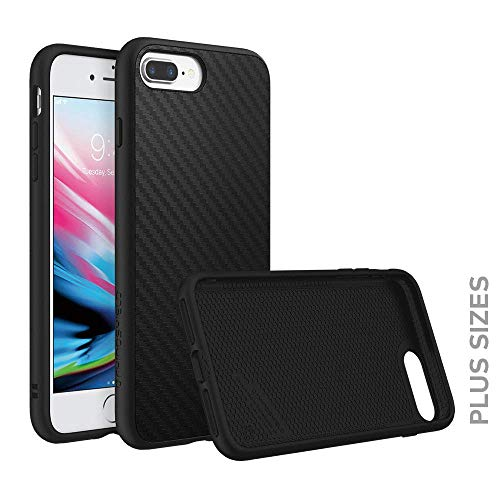 RhinoShield Case for iPhone 8 Plus/iPhone 7 Plus [SolidSuit]   Shock Absorbent Slim Design Protective Cover [3.5 M / 11ft Drop Protection] - Carbon Fiber