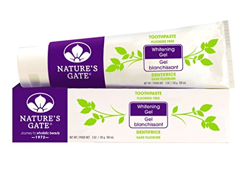 Nature's Gate Natural Toothpaste, Whitening Gel, 5 Ounce (141 g) (Whitening Nature Gate Toothpaste)