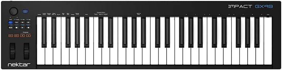 Nektar Impact gx49 USB controlador MIDI teclado con Daw integración