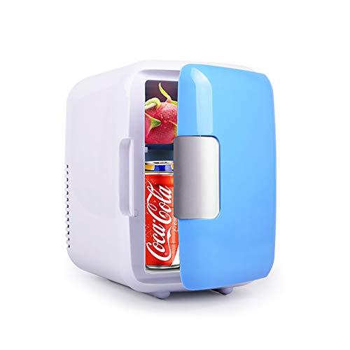 Mini Fridge, Car Fridge Portable Compact Refrigerator Electric Cooler & Warmer(4 Liter / 7 Can) For Car/Boat/Self-Driving/Camping/Outdoor - 12V DC Vehicle Plugs (Mini Under Desk Refrigerator)