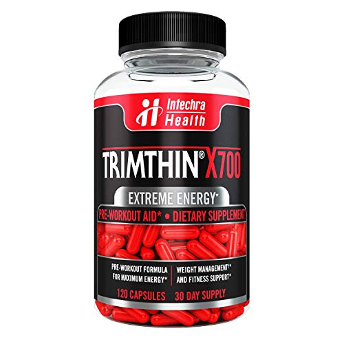 Trimthin X700 Thermogenic Diet Pills with Maximum Energy Manufactured in USA from Clinically Researched Ingredients 120 Capsules