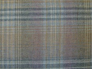 Curtain Fabric Wool Tartan Plaid Check Mauve Grey Upholstery By The