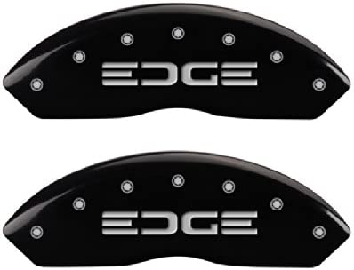 MGP Caliper Covers 10119SEDGRD Red Brake Covers Engraved with Silver Edge//Edge Set of 4