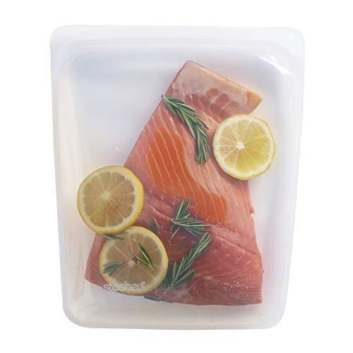 Stasher Reusable Silicone Food Bag, Sandwich Bag, Sous vide Bag, Storage Bag, - Half Bags Gallon