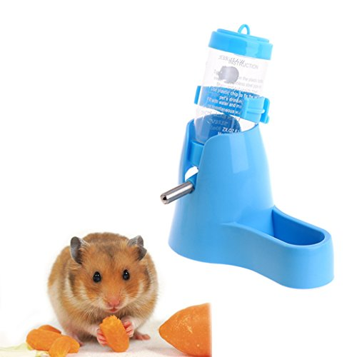 Pet Water Bottle,NNDA CO 3 in 1 Pet Hamster Water Bottle Food Container Drinking Feeding Rest 80ml New (blue) New Pet Hamster