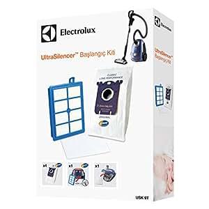 Electrolux USK9T Ultra Silencer Başlangıç Kiti Toz Torbası, Plastik, Siyah, 6 Adet