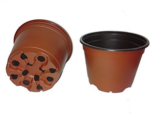 400 NEW 4 Inch TEKU Plastic Nursery Pots - Azalea Style ~ Pots ARE 4 Inch Round At the Top and 2.8 Inch Deep. Color: Terracotta by Teku