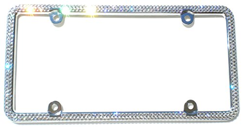 Cool Blingz 2 Row Crystal License Plate Frame Rhinestone Bling Made with Swarovski Crystals