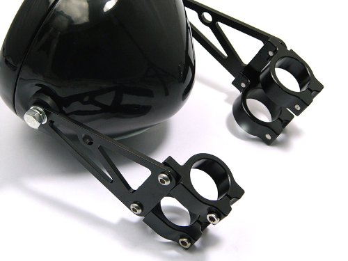 Harley Davidson Max-Inc Universal Black Motorcycle Headlight Brackets 38//39mm Diameter Chopper Fork Mount Headlamp Bracket with Turn Signal Mounting Points for a Caf/é Racer