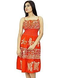 Batik Print Rayon Dress Smocked Dress Knee Length Summer Dress Wear