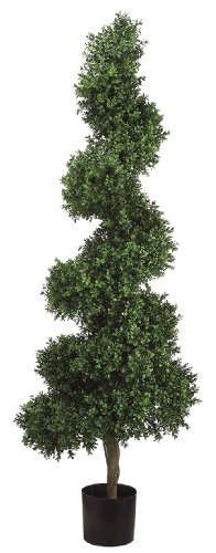 Silk Decor 5.5-Feet Spiral Boxwood Topiary Plant, Green/Two-tone by Silk Decor