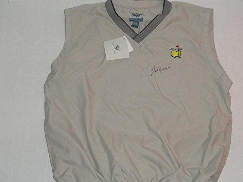 Jack Nicklaus Signed Masters - Jack Nicklaus Signed Masters Vest 6-time Champion Very Rare Proof - Autographed Golf Shirts