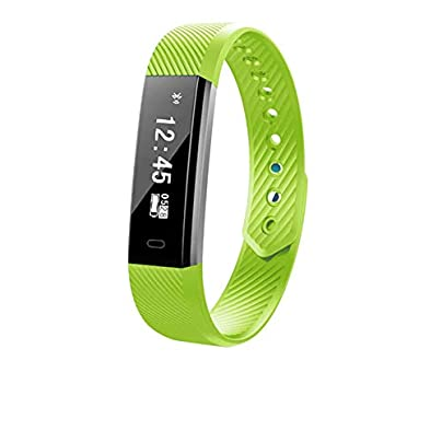MINASAN Smart Bracelet Wristband Watch Heart Rate Monitor Blood Pressure Fitness Tracker Green Estimated Price -