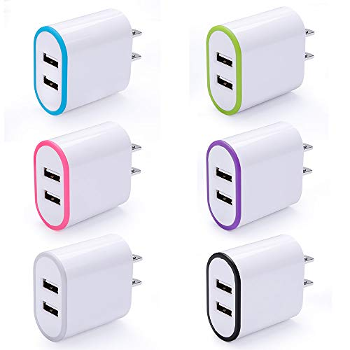 USB Wall Charger, Cebkit 6 Pack Fast Charging Block with USB