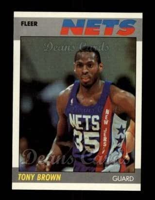 timeless design 9cfe6 42d87 Amazon.com: 1987 Fleer # 14 Tony Brown New Jersey Nets ...