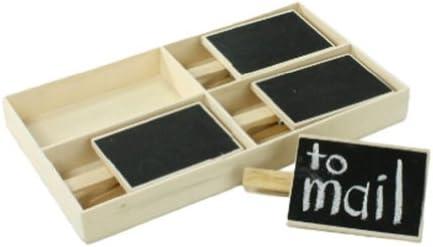 Pizarra en Clip caja de 4: Amazon.es: Oficina y papelería