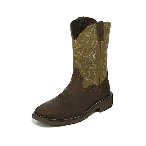 Justin Stampede Amarillo Steel Toe Boot 10 EE (Justin Boots Stampede Womens)