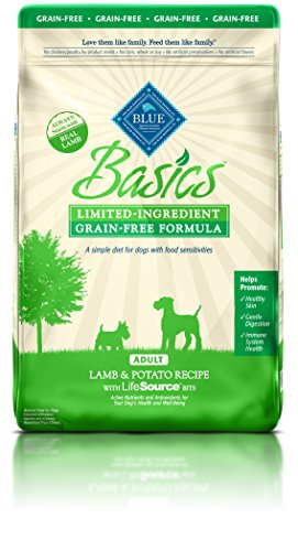 BLUE Basics Limited Ingredient Diet Adult Grain Free Lamb & Potato Dry Dog Food 11-lb