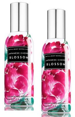 Concentrated Bath (Bath and Body Works 2 Pack Concentrated Room Spray Japanese Cherry Blossom 1.50 Oz.)