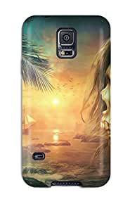 First-class Case Cover For Galaxy S5 Dual Protection Cover Skull Fantasy