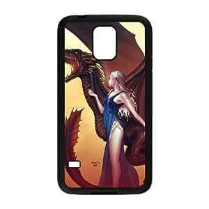 FLYBAI Fantasy Drogon Phone Case For Samsung Galaxy S5 i9600 [Pattern-1]