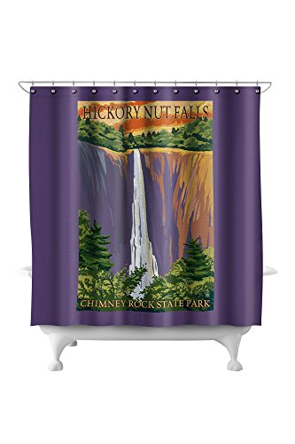 Chimney Rock State Park, NC - Hickory Nut Falls (71x74 Polyester Shower Curtain)