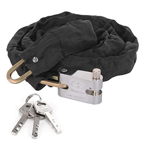 KingSaid 0.9m/1.2m/1.8m Heavy Duty Motorcycle Bike Chain Lock Padlock with 3 Keys