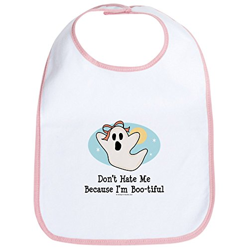 CafePress - Halloween Bootiful Ghost Bib - Cute Cloth Baby Bib, Toddler Bib