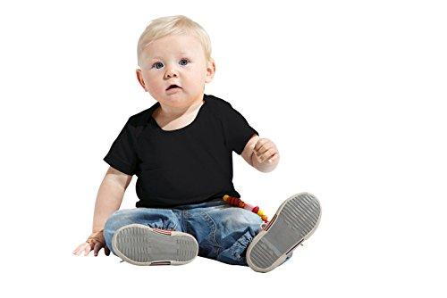 Baumwoll Baby T-Shirt, 80/86, Schwarz, Schwarz, 80/86