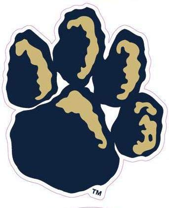 2 Inch Pitt Paw Print Logo Decal University of Pittsburg Panthers PA Removable Wall Sticker Art NCAA Home Room Decor 2 by 2 - Logo Panthers Wall