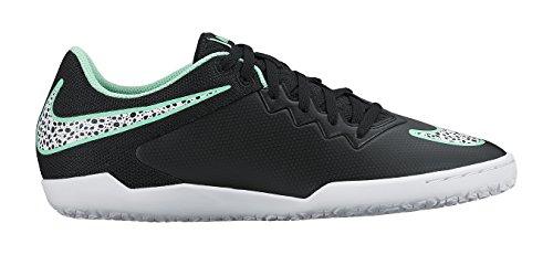 Nike Hypervenomx Pro IC, Herren Fußballschuhe Schwarz / Weiß / Grün (Schwarz / Weiß-Grün-Glühen-Grn GLW)