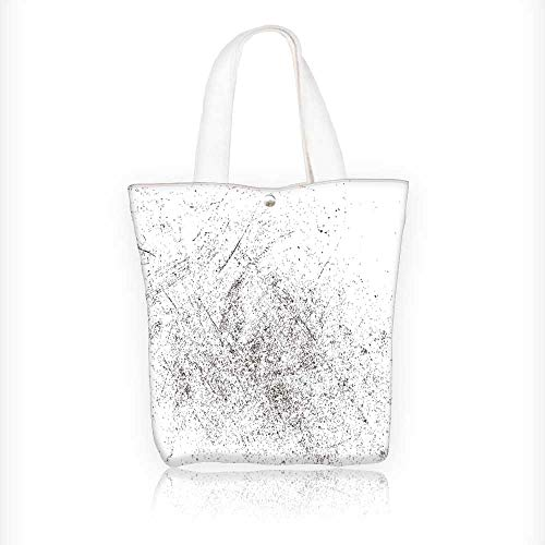 Stylish Canvas Zippered Tote Bag splatter paint texture dist