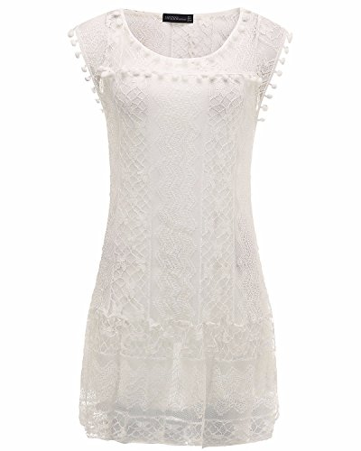 ZANZEA ZANZEAQuqe7921 - Vestido para mujer blanco
