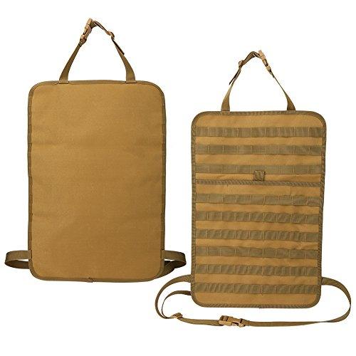 1 pcs Car Back Seat Organizer,Universal Nylon Car Seat Back Organizer Storage Bag Cover Protector Car Backseat Protector (Khaki) ()