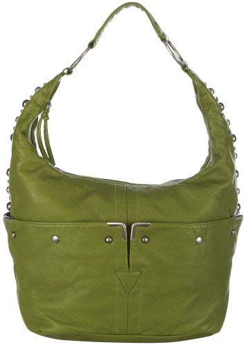 Bueno Lizard Embossed Studded Hobo Bag One Size Leaf green, Bags Central
